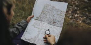 mapa kompas