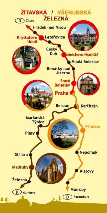 deleni trasy zitavska - vserubska - zelezna
